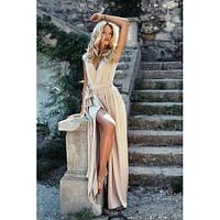 Женское платье в пол золото