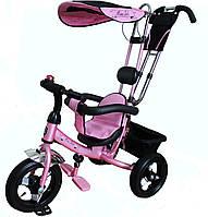 Велосипед 3-х колесный с ручкой Mars Mini Trike LT950 air розовый
