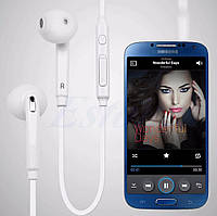 Наушники для мобильного телефона Samsung S6 вакуумные с микрофоном white