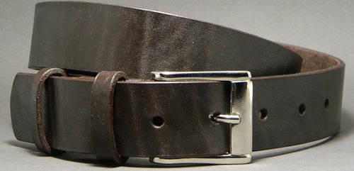 Сдержанный женский ремень из натуральной кожи Brown 3,5 см Svetlana Zubko 3K352 коричневый