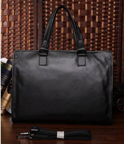 """Кожаный стильный мужской портфель для ноутбука 15,6"""" S.J.D. 7185A"""