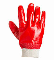 Перчатки  DOLONI вязанные полностью облитые ПВХ