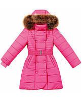 Baby Line Пальто р122-134 рожевий пух/хутро