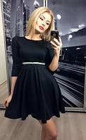 """Платье """"Клеш-камни"""", черное"""