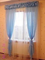 Шторы для спальни голубые нежные