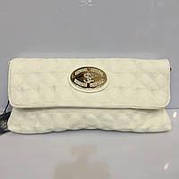 Женская сумка клатч Shengkasilu 817 белый из кожзама