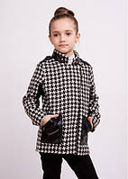 Детский пальто- ветровка со вставками кожи