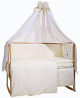 Набор постельного в детскую кроватку Bepino вышивка жакард 9 эл
