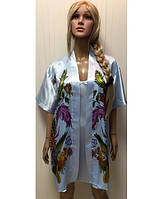 Женский шелковый халат и рубашечка