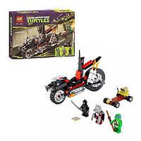 Конструктор Bela 10207 Черепашки Ниндзя (Ninja Turtles) ''Мотоцикл-дракон Шреддера'' 198 дет