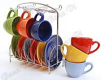 Набор чашек  на подставке Bonadi 312-B14