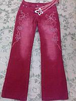 Вельветовые бордовые штаны на девочку