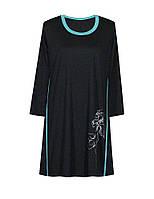 Платье с кантами и принтом Ирисы