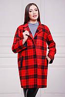 Кашемировое пальто в модный клетчатый принт