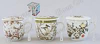 Чашка  360мл с ситом и ложкой  Сакура Bonadi HX83