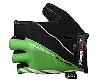 Велосипедные перчатки с сеткой Power Play. Зеленый