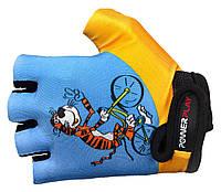 Велосипедные перчатки для детей Power Play голубой