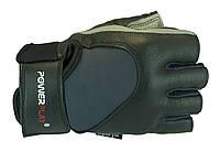 Прочные перчатки из качественного кожзаменителя. Серый