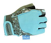 Удобные перчатки для занятий в спортзале. Бирюзовый