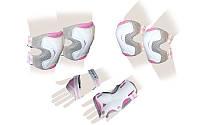 Защита спорт. наколенники, налокот., перчатки для взрослых ZEL GRACE (р-р M, розовая)