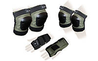 Защита спорт. наколенники, налокот., перчатки для взрослых ZELART METROPOLIS (р-р M, L, хаки)