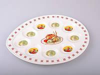 "Тарелка для яиц 9 шт., 30,5х22 см. ""Пасха"" керамика, пасхальная коллекция"