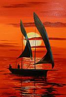 «На закате» картина маслом