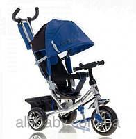 Велосипед детский трехколесный Azimut AIR Lamborghini. Колеса Пена. Синий