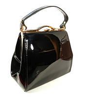 Лаковая черная сумочка в наличии, тренд года, расцветки