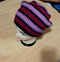 """Вязанная шапка """"Vintage"""" ручной работы"""
