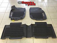 Коврики с бортиком резиновые передние задние Toyota RAV4 2013-16 новые оригинал