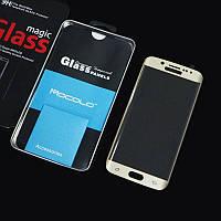 Загартоване 3D скло Mocolo для Samsung S6 Edge, 0,21мм (золотий)