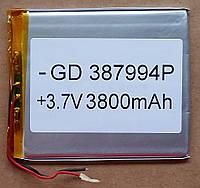 Литиевый элемент питания 387994  3,7V (размер 38х79х94mm)  3800mAh