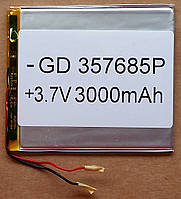 Литиевый элемент питания 357685 3,7V (фактический размер 35х75х86mm)  3000mAh