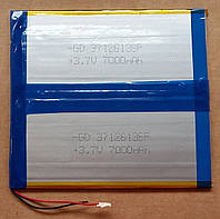 Литиевый элемент питания 37126136  3,7V (фактический размер 37х126х140mm)  7000mAh