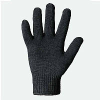 Перчатки х/б двойные, черные (540) ТМ DOLONI / Украина