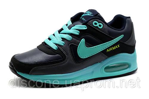 Кроссовки Nike Air Max 90,унисекс, пресскожа, темно-синий, р. 37