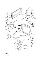 Ограничитель (фиксатор) открывания передней двери OPEL CALIBRA Opel 160233 0160233  /