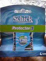 Лезвия Бритвы Кассеты для Станка Schick Protektor-3 4шт