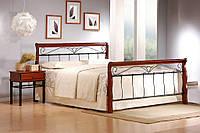 Кровать Veronica 180 x 200 Черешня античная + черный