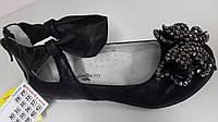 Туфли лодочки черные для девочек. ТМ B&G. Размер 29-34