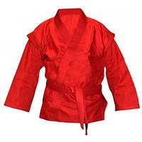 Кимоно самбо красное VELO VL-8126 (х-б, р-р 0-6 (130-190см), плотность 500 мг на см2)