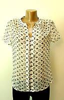 Блуза Шифоновая LV белая
