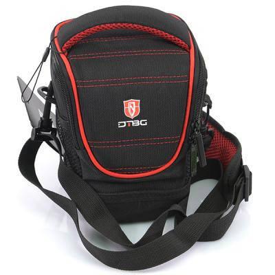 Сумка для фотокамеры качественная DTBG D8779BL черный/красный