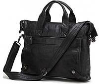 """Модный портфель для ноутбука 15,6"""" кожаный S.J.D. 7120A"""