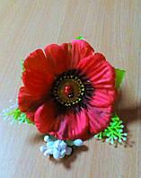 Резинка для волос с цветами.