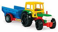 Игрушечная машинка трактор с прицепом Тигрес 39215