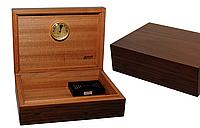 Хьюмидор JEMAR 7033402 для 50 сигар, орех, 27,5х20х8,5 см