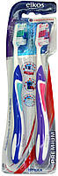 Зубные щетки Elkos Zahnburste Premium mittel 2stk.