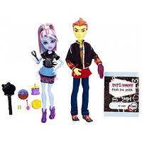 Сет из 2 кукол - Хит Бернс и Эбби Боминейбл. Классная комната,  Школа Монстер Хай
